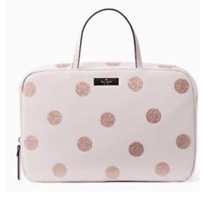 Kate Spade Glitter Dot Cosmetic Bag